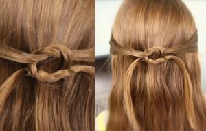 Pullbacks into Square Knot | Cute Hairstyles
