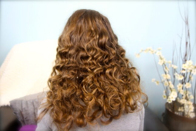 Back view of Cocoon Curls - After