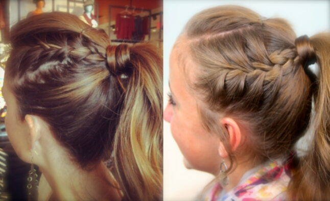 Double-Frenchbacks into High Pony   Cute Ponytail Ideas