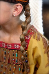 Loony Braid with Leather Accents | Pocahontas Braids