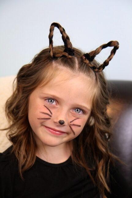 Braided Kitty Cat Ears | Halloween Hairstyles