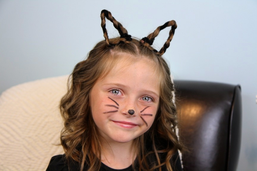 Braided {Kitty} Cat Ears | Halloween Hairstyles | Cute Girls Hairstyles