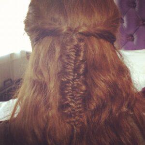 Messy Fishtail Braid | Half-Up/Half-Down Hairstyles