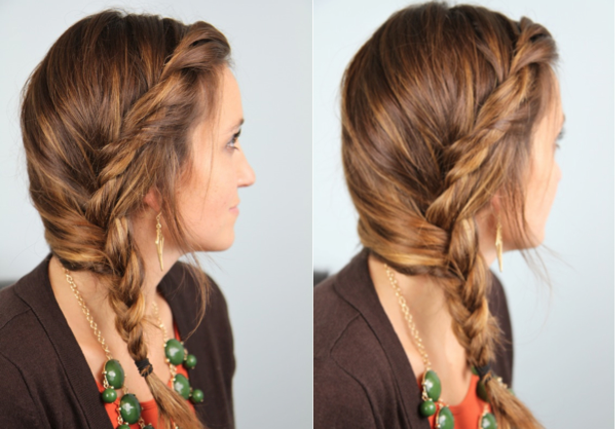 subtle twist into side braid | cute girls hairstyles