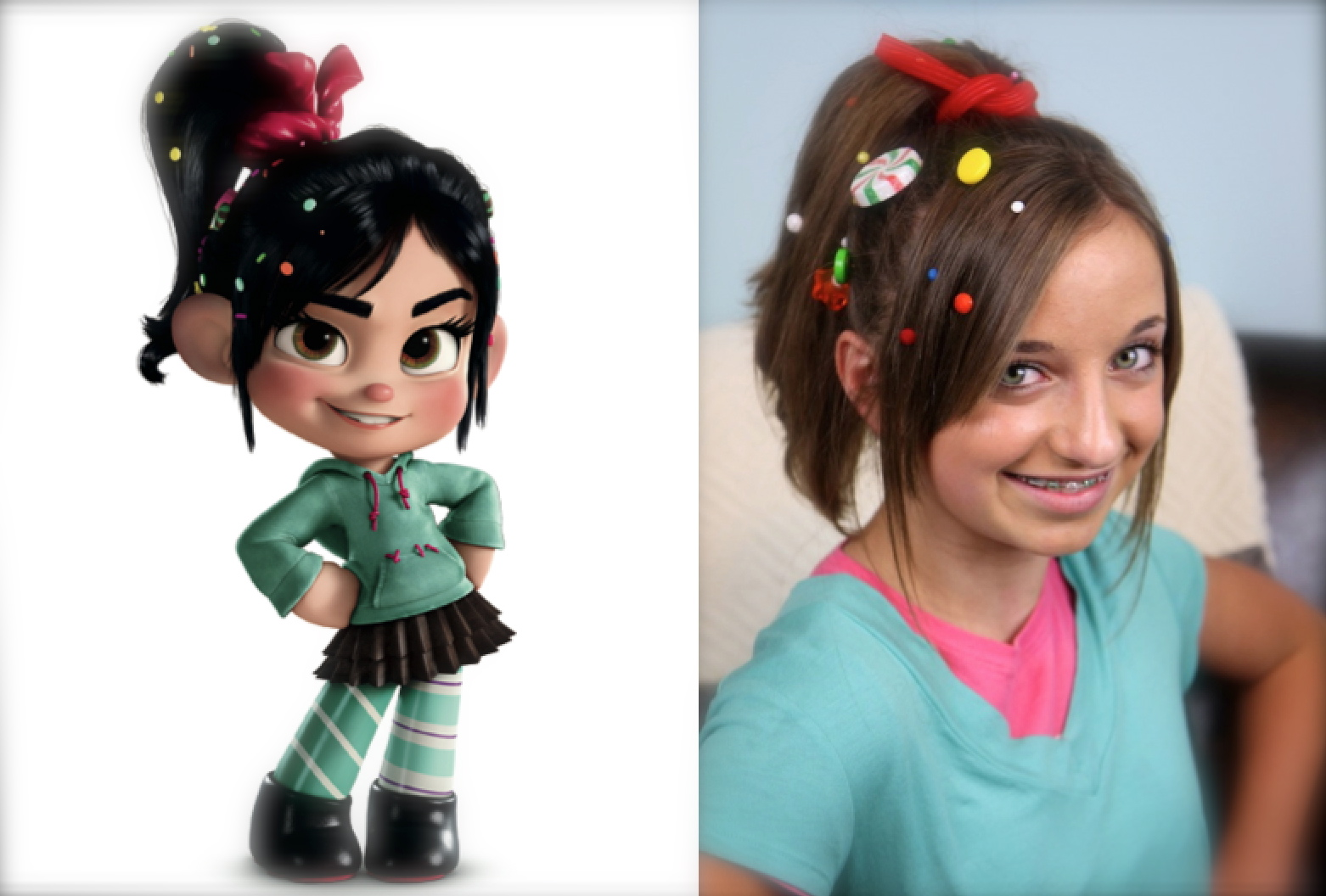 Vanellope von Schweetz | Wreck-It Ralph Hairstyles | Cute Girls ...