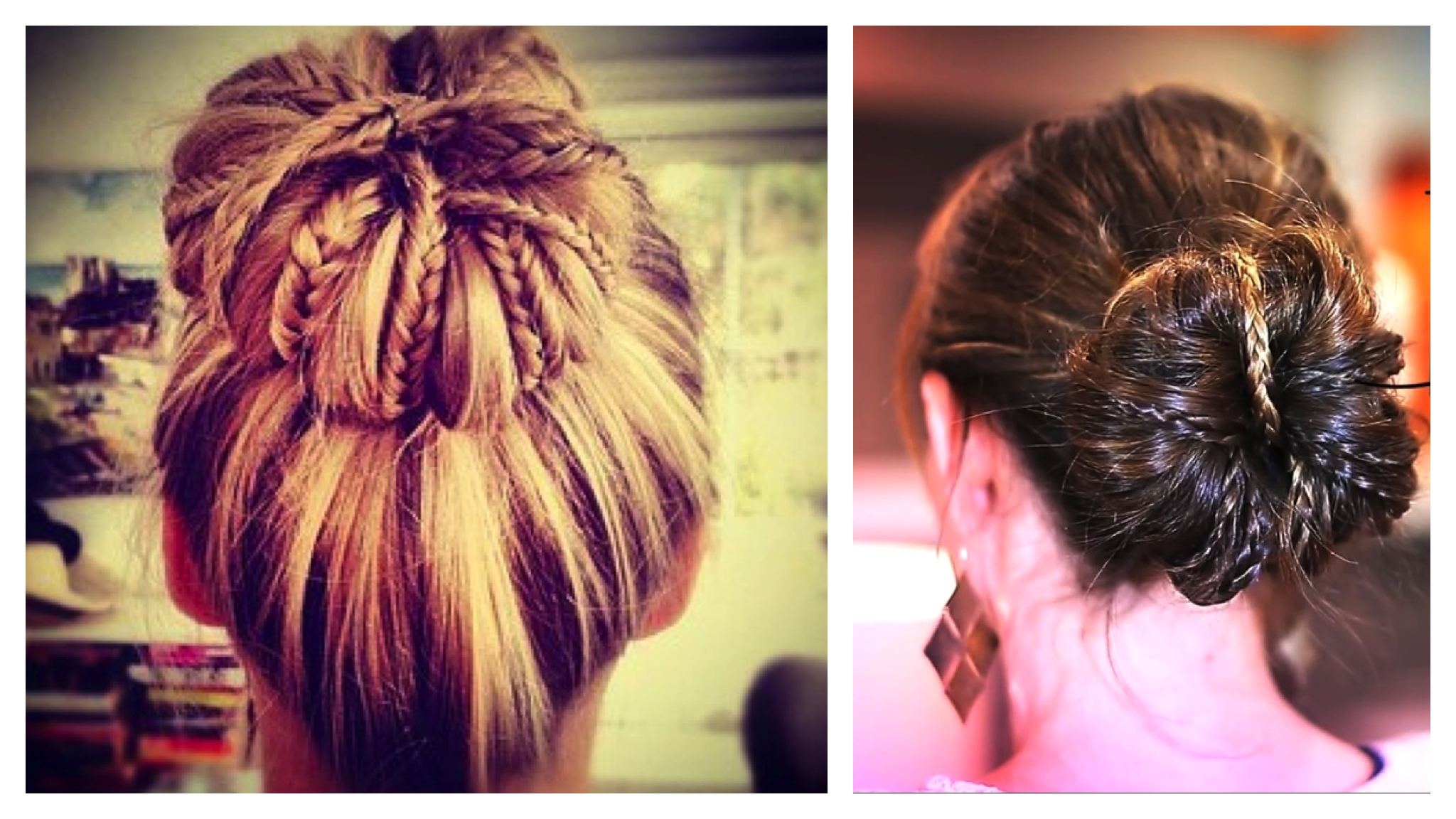 High Bun Hairstyles With Braids 17