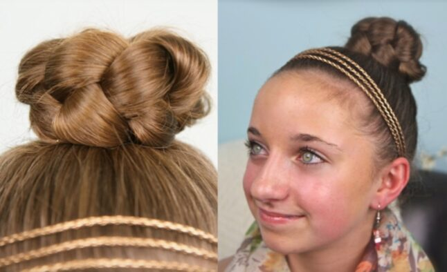 Simple Braided Bun | Cute Girls Hairstyles