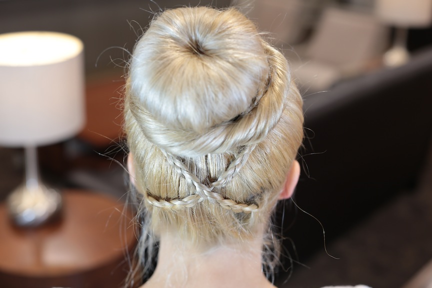 Cross Braid Sock Bun | Updo Hairstyles