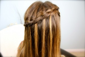 DIY Dutch Waterfall Braid | Popular Hairstyles