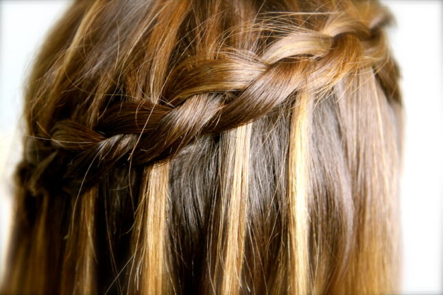 Close-up of DIY Dutch Waterfall Braid | Popular Hairstyles