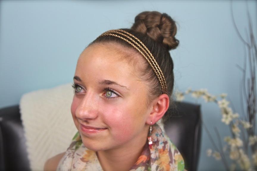 Simple Braided Bun Cute Girls Hairstyles Cute Girls Hairstyles