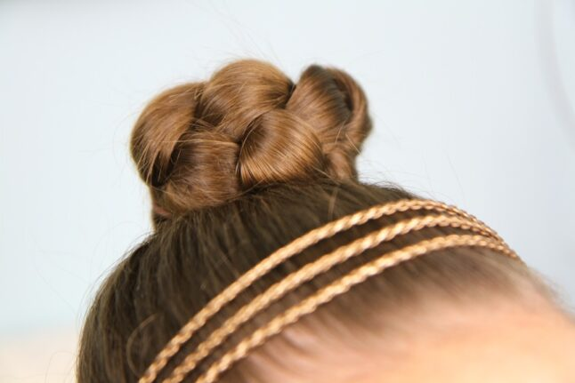 Side view of Simple Braided Bun Hairstyle