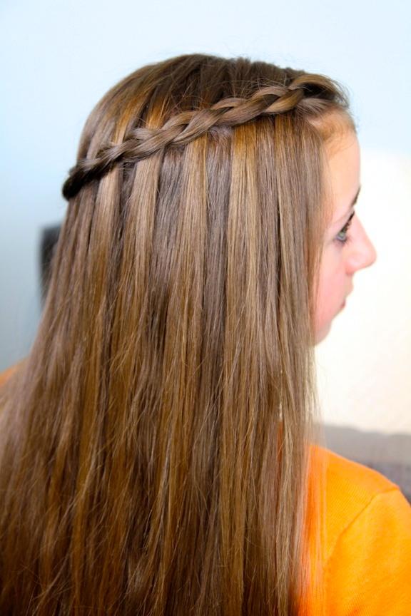 Dutch waterfall braid cute girls hairstyles cute girls hairstyles