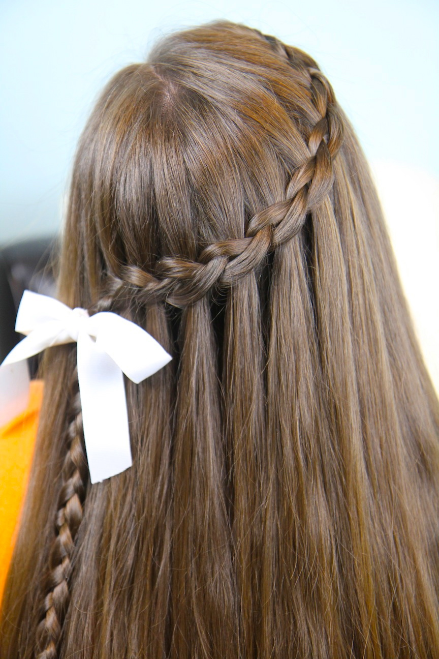 Dutch Waterfall Braid | Cute Girls Hairstyles | Cute Girls Hairstyles