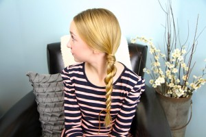 Side view of Hair-Wrapped Rope Braid {Plait} | Easy Hairstyles