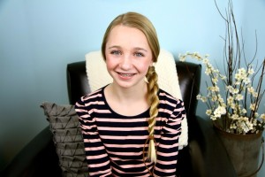 Portrait of a young girl modeling Hair-Wrapped Rope Braid {Plait} | Easy Hairstyles