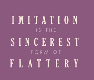 Imitation is the Sincerest Form of Flattery (Quote)