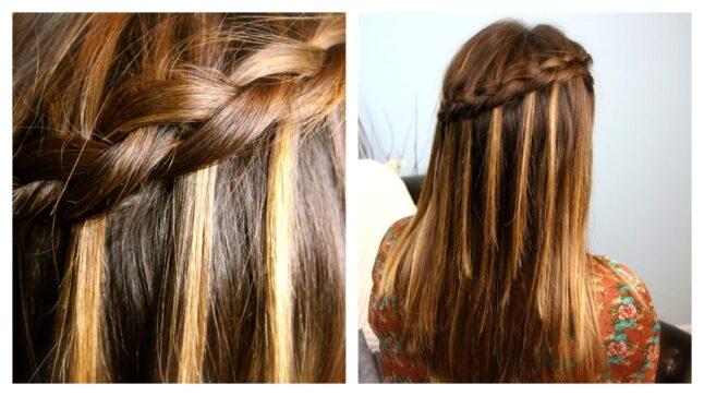 DIY Dutch Waterfall Braid | Popular Hairstyles