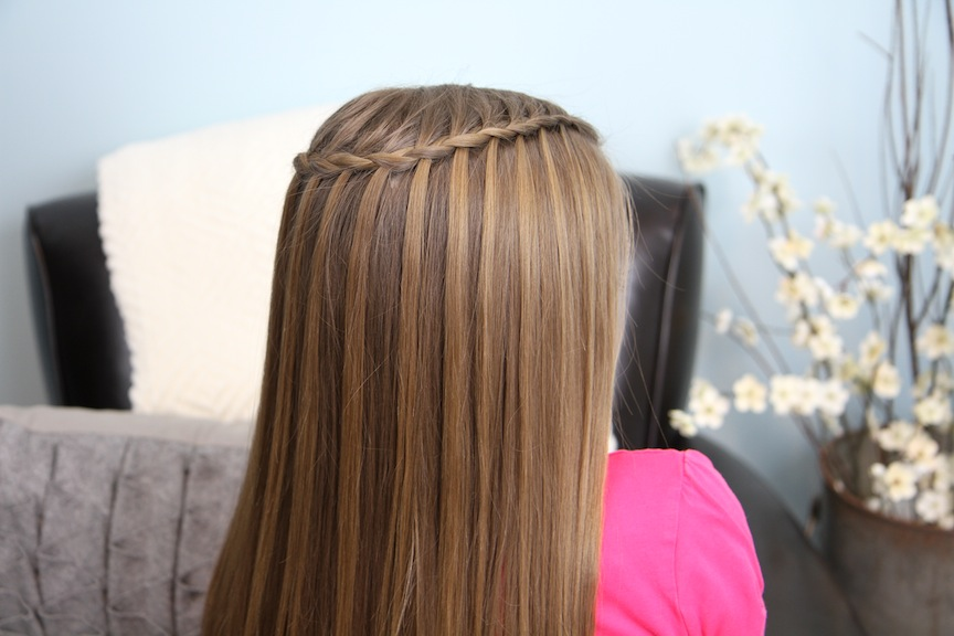 Feather Waterfall Ladder Braid Combo 2 In 1 Hairstyles Cute