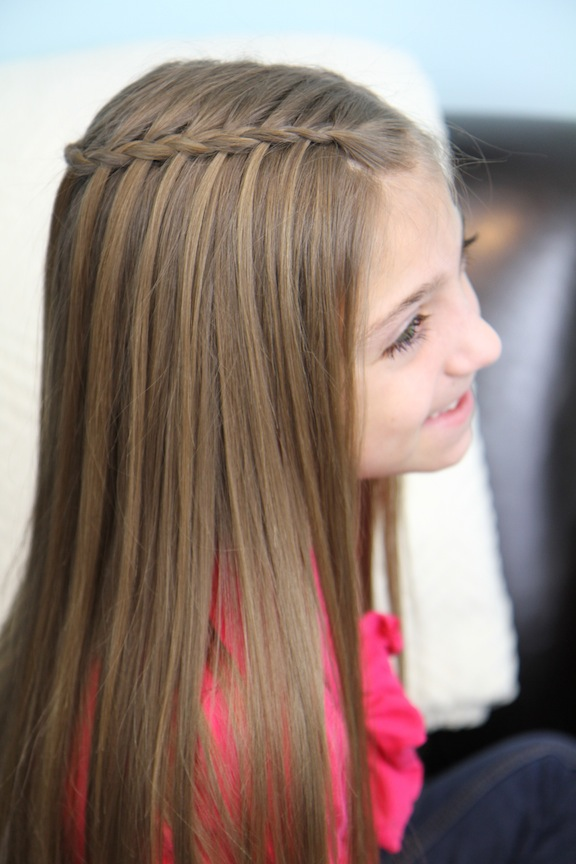 Feather Waterfall Ladder Braid Combo 2 In 1 Hairstyles Cute Girls Hairstyles