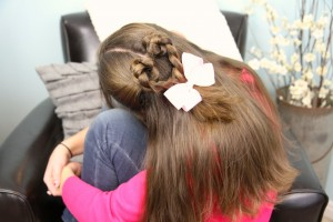 Back view of Twist-Braided Heart | Valentine's Day Hairstyles