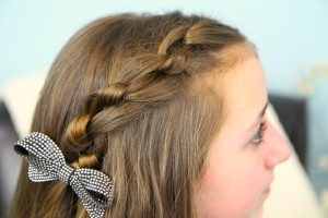 Top view of Knotted Pullback | Easy Hairstyles