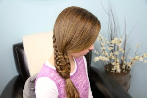 Ladder Braid into Side Ponytail   Cute Hairstyles