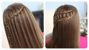 Feather Waterfall Braid and Ladder Braid Combo