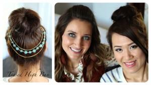 Teased High Bun   Prom Hairstyles