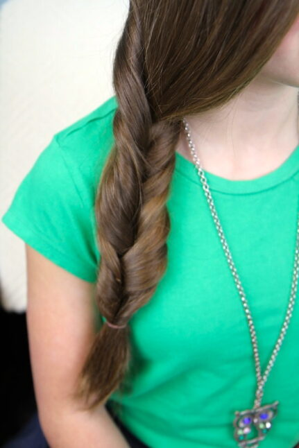 Close-up of Faux Fishtail Braid | Easy Braid Hairstyles