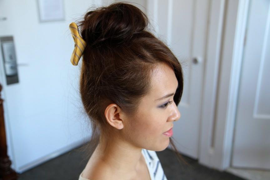 Teased High Bun | Cute Updo Hairstyles | Cute Girls Hairstyles