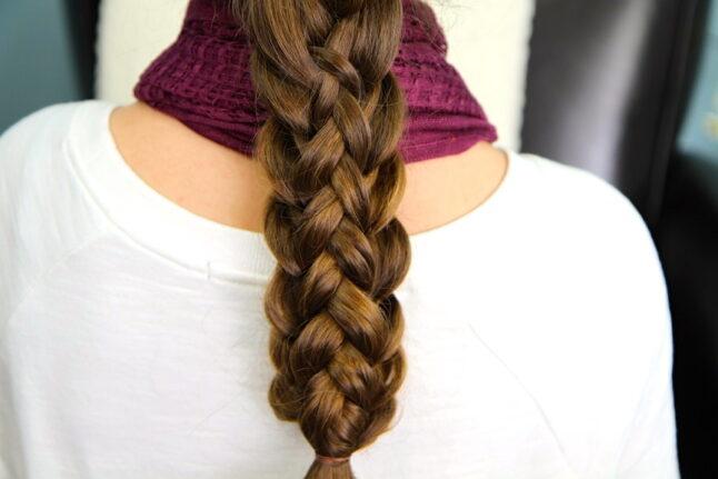 Close-up view of Stacked Braids | Cute Braided Hairstyles