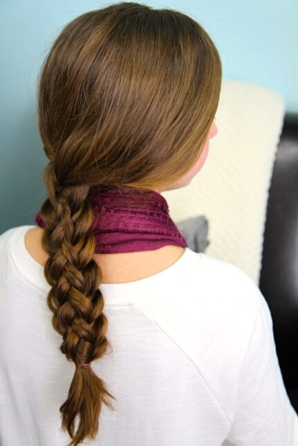 Back view of Stacked Braids | Braid Hairstyles
