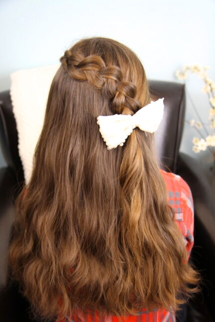Back view of Pancake Lace Braid | Easy Hairstyles