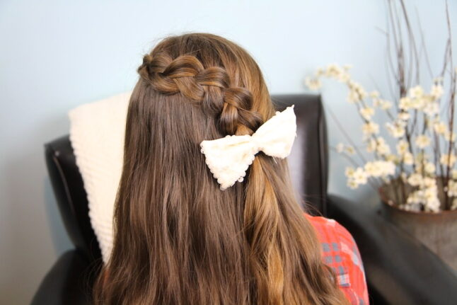 Back close-up view of Pancake Lace Braid | Easy Hairstyles