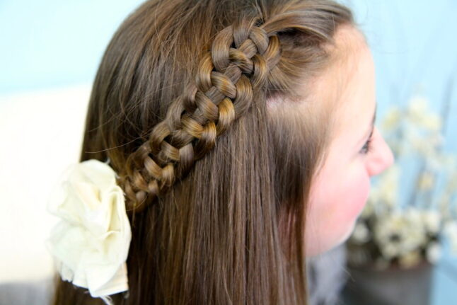 Close-up of 4-Strand Slide Up Braid   Cute Girls Hairstyles