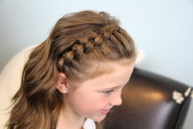 Side view of Lace Braid Headband | Cute Girls Hairstyles