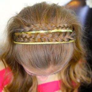 Double Braided Sparkle Headband