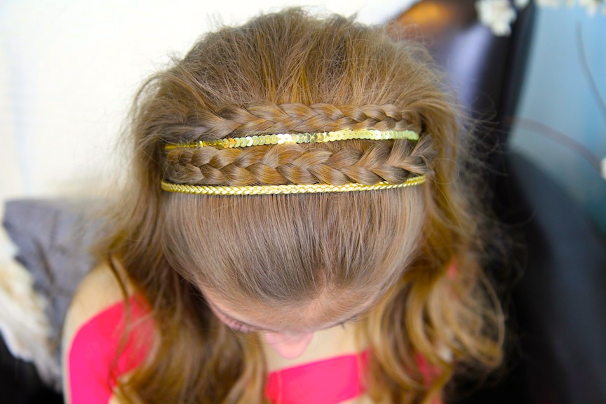 Double Braided Sparkle Headband