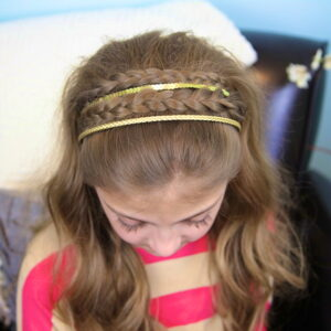 Top view of Double Braided Sparkle Headband