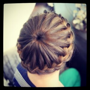 Starburst Crown Braid | Updo Hairstyles