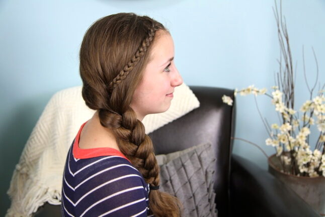 Profile view of The Nested Braid | Cute Braids | Hairstyles