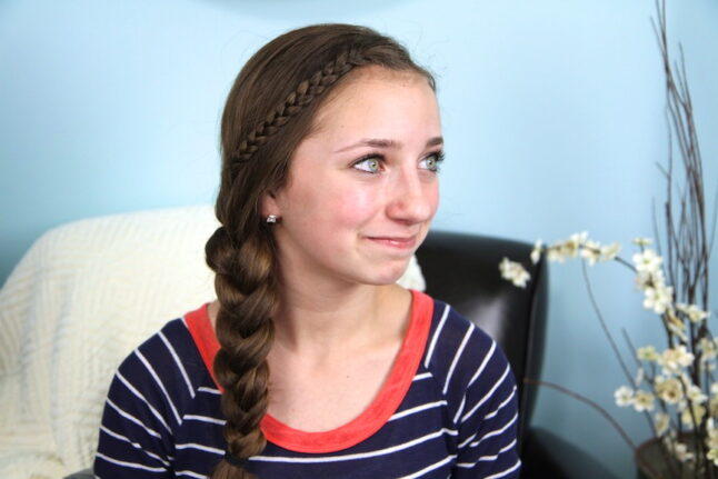 Side view of The Nested Braid | Cute Braids | Hairstyles