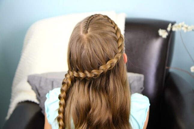 Top view of Wrap-Around Prim Braid | Catching Fire | Hunger Games Hairstyles