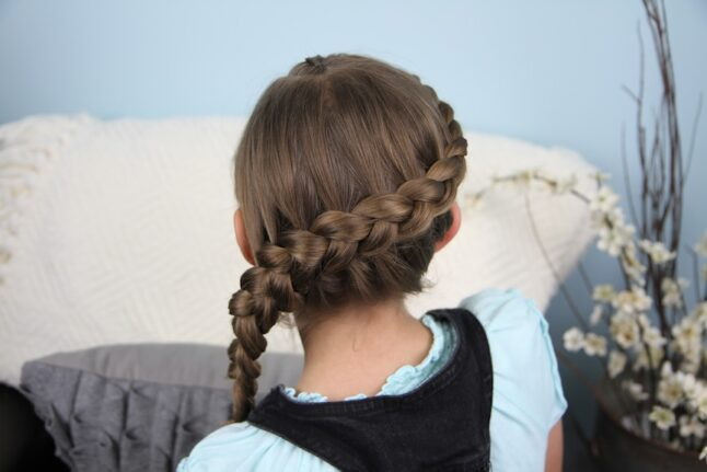 Back view of Prim and Katniss Braid Combo | Hunger Games Hairstyles