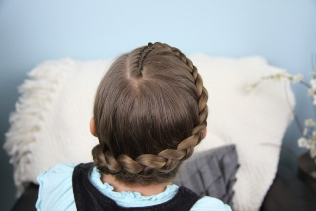 Top view of Prim and Katniss Braid Combo | Hunger Games Hairstyles