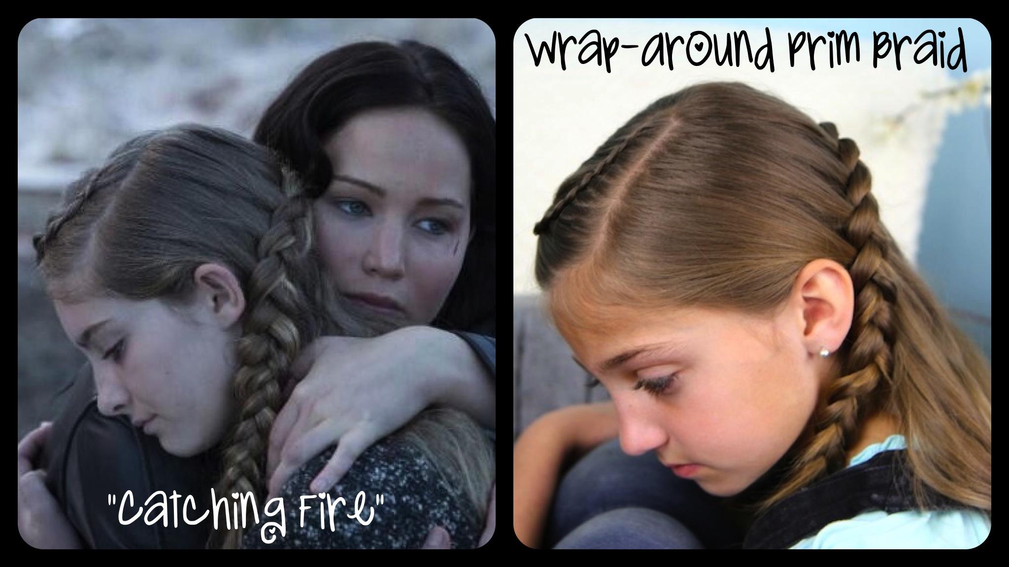 Wrap Around Prim Braid Catching Fire Hunger Games Hairstyles Cute Girls Hairstyles