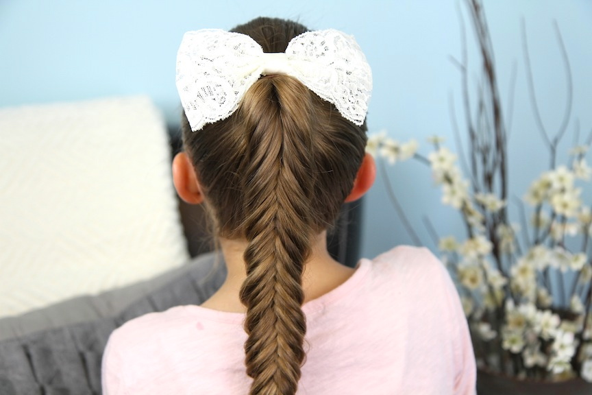 Back view of Reverse Fishtail Braid | Cute Braided Hairstyles