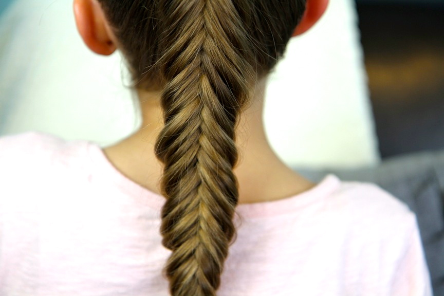 Close-up view of Reverse Fishtail Braid | Cute Braided Hairstyles