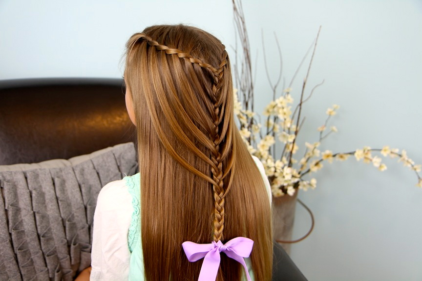 Waterfall Twists Into Mermaid Braid Cute Hairstyles Cute Girls